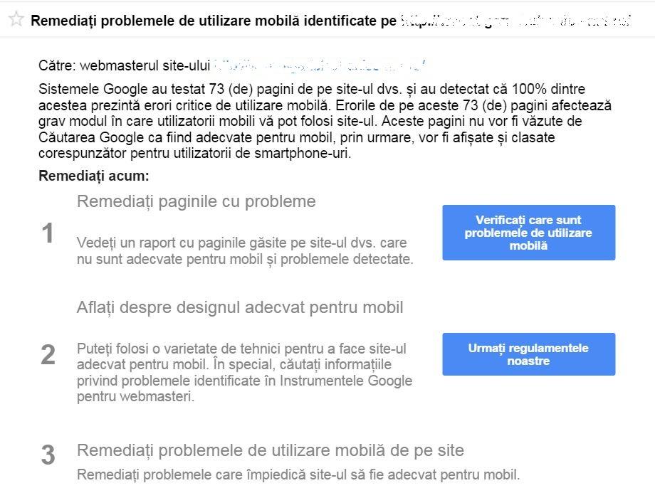 avertizari google