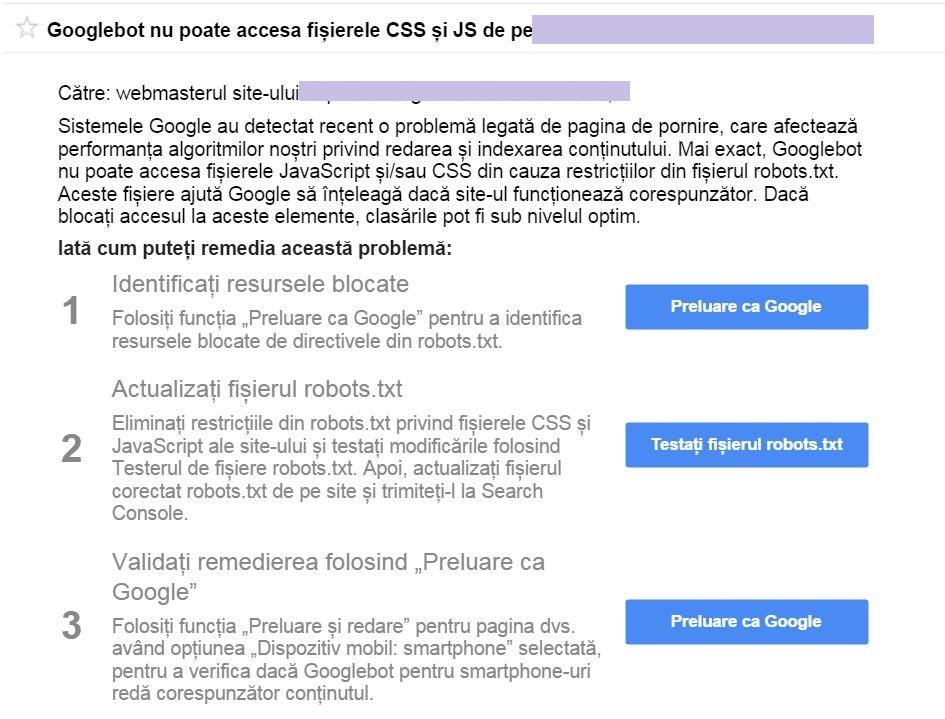 notificare google