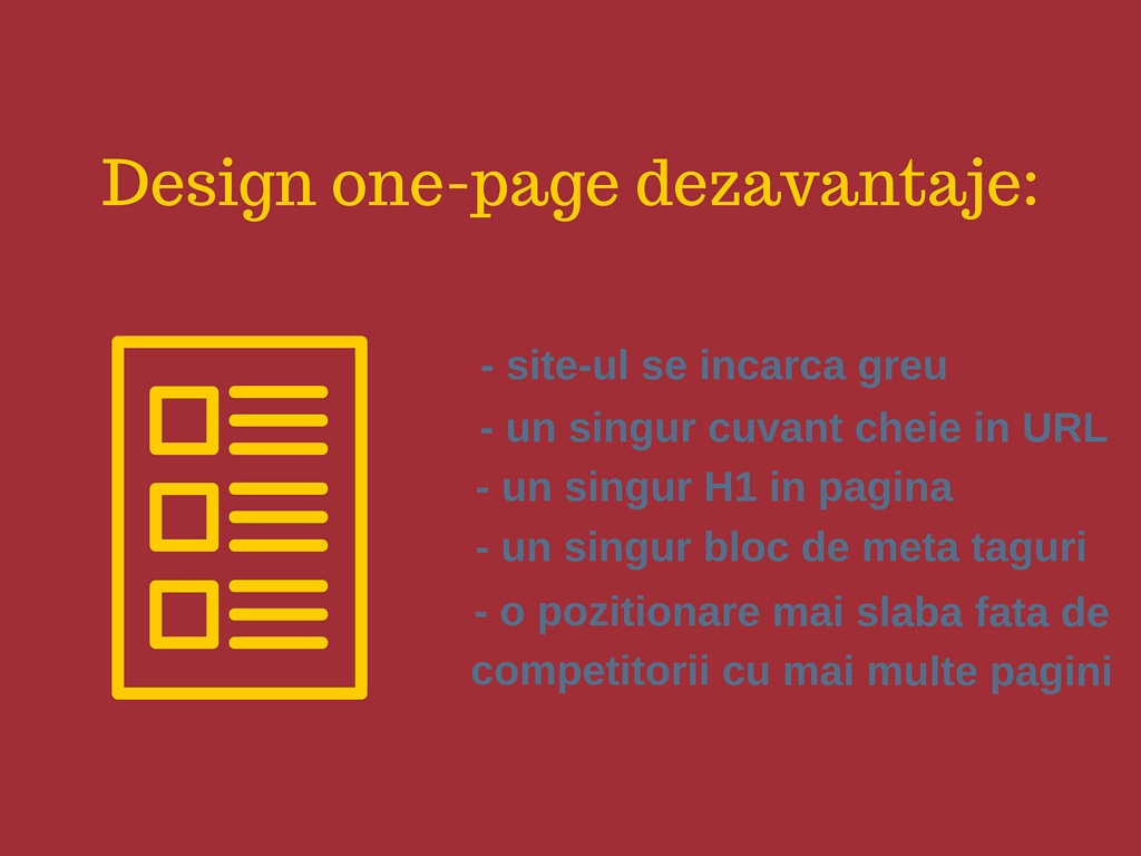 One page design